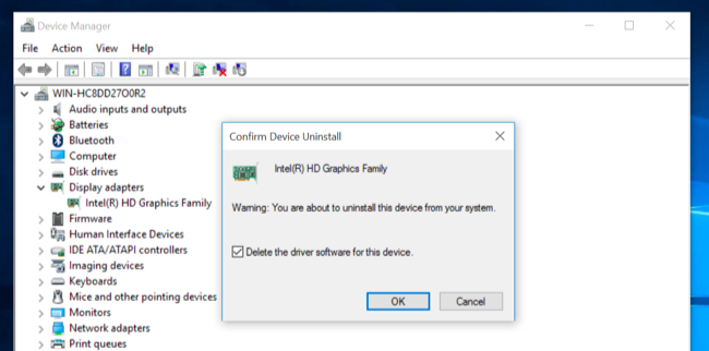 how to remove amd drivers windows 10