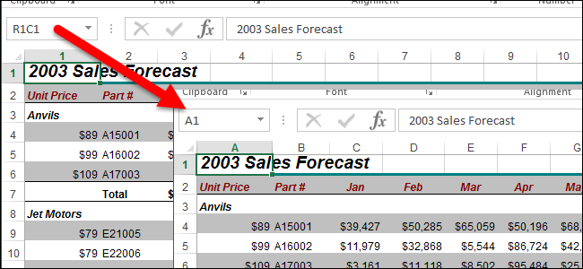 how to indicate change in excel cell