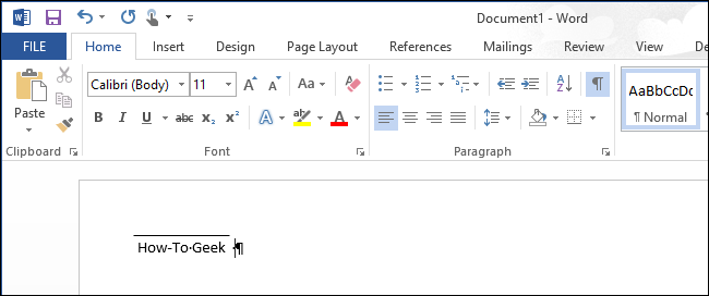how to add under lines to word toc