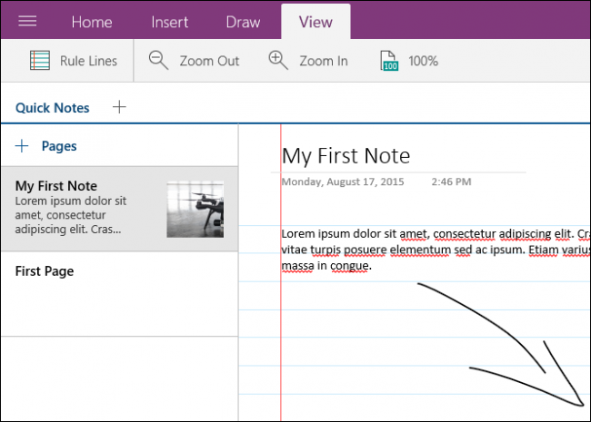 Drawing Lines In Onenote : The beginner s guide to onenote in windows