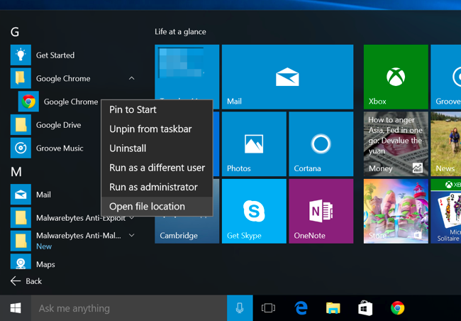 Organizing Apps how to organize and add shortcuts to the all apps list on windows 10