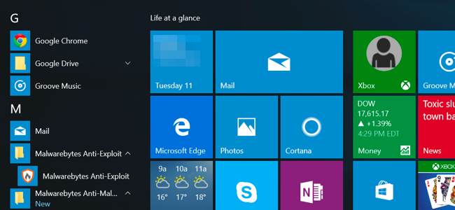 how to organize and add shortcuts to the all apps list on windows 10