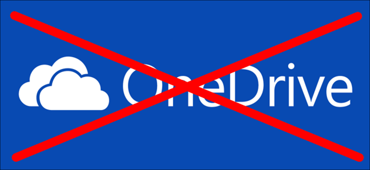 A crossed out OneDrive logo