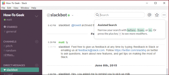 How to Search for and Find Anything in Slack