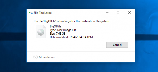 Why Can't I Copy Large Files to My High Capacity Flash Drive?