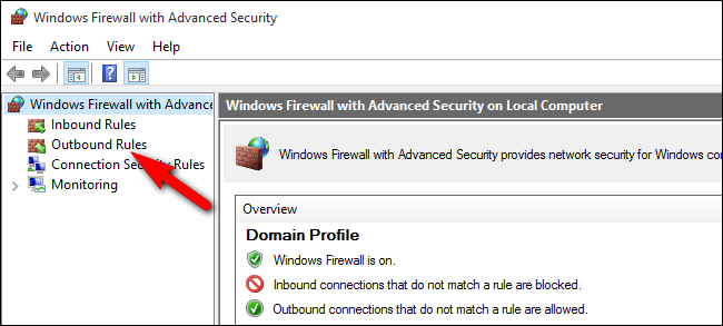 how to block internet access to a program firewall