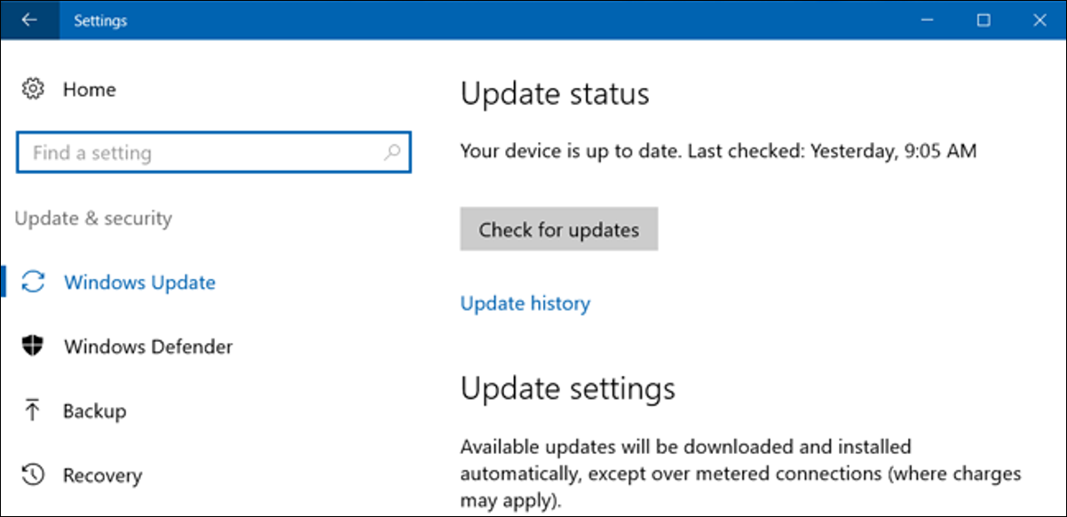 stop windows from updating automatically