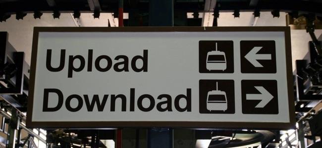 windows 10 update uploads and downloads
