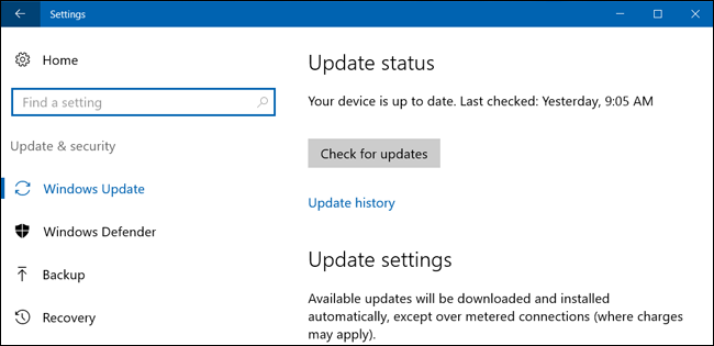 How to prevent windows 10 from automatically downloading updates windows 10 pcs automatically check for updates and install any updates they find you can take some control over this and have windows 10 install updates on ccuart Image collections