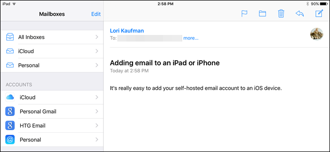 How to Add a Self-Hosted Email Account to an iOS Device