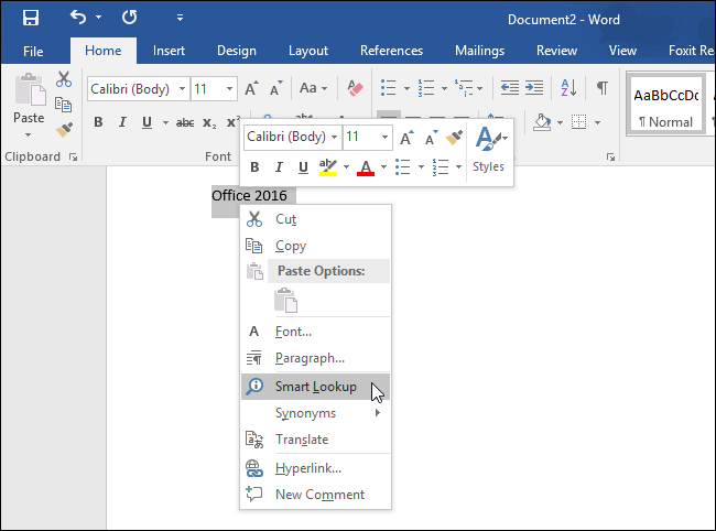 Screenshot Tour: What's New in Office 2016