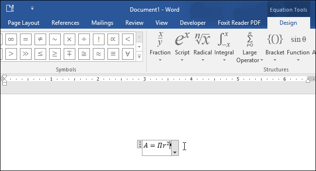 how to give equation number in word