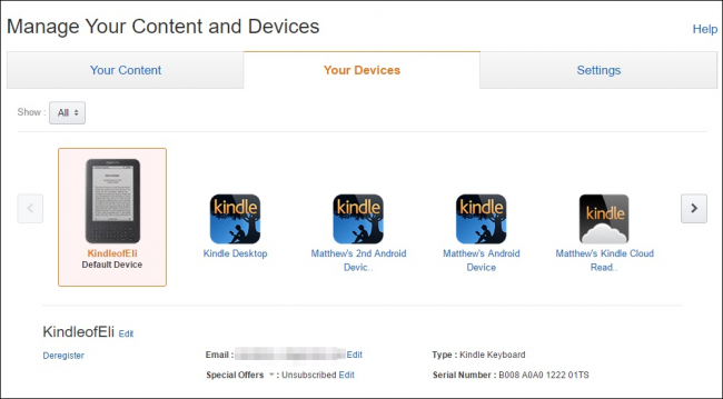 How to Manage Your Kindles and Books from the Amazon Website