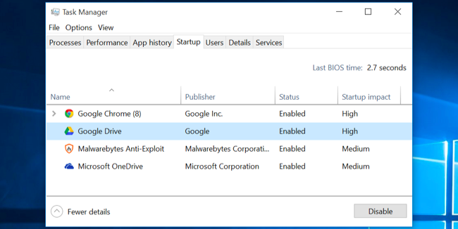10 quick ways to speed up a slow pc running windows 7, 8, or 10click over to the startup tab and disable startup applications you don\u0027t need windows will helpfully tell you which applications slow down your startup