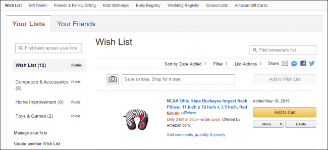 3eeac20342fb8 How to Create and Better Manage Amazon Wish Lists