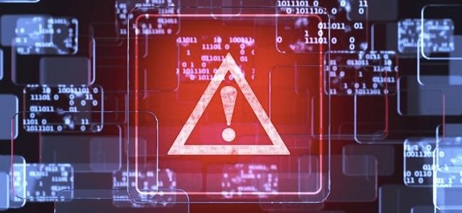 Future technology smart glass red touchscreen interface. Caution screen concept