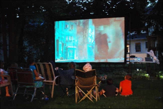 Backyard Sounds At Night : How to Throw the Ultimate Backyard Movie Night