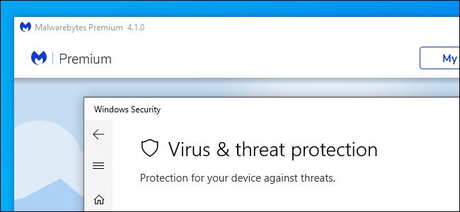 Malwarebytes Premium and Windows Security on Windows 10