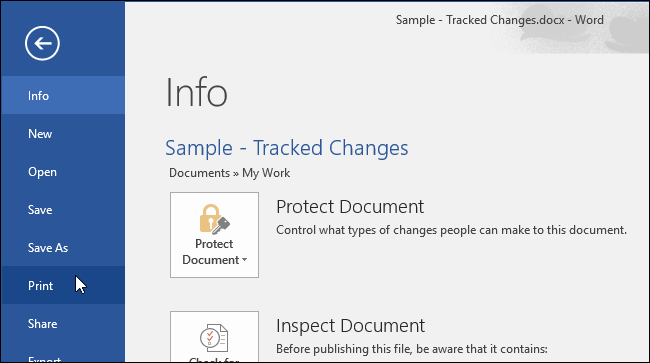 How to Print a Word Document without the Track Changes Marks