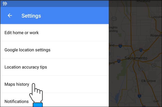 How to View and Delete Your Google Maps History on Android ... Clear Google Maps History Android on total commander android, google talk android, google bookmarks android, google map san francisco bay, chromebook android, google voice android, windows media player android, baidu maps android, google chrome browser android, onedrive android, social networking apps android, google calendar app for windows 8, ical android, google marketplace android, google groups android, google notes android, google analytics android, downloadable maps for android, google search bar android, google map example,
