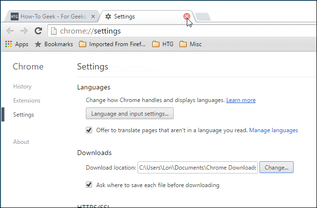 how to change share settings on chrome