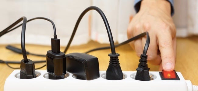 unplug small electrical appliances