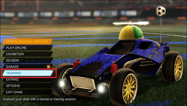 how to get rocket league trainer