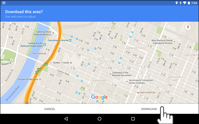 How to Use Offline Google Maps on Android or iPhone - Tips general Google Maps Android Offline Navigation Download on google sync android, google docs offline android, google chrome search, google maps android icon, city maps 2go android,