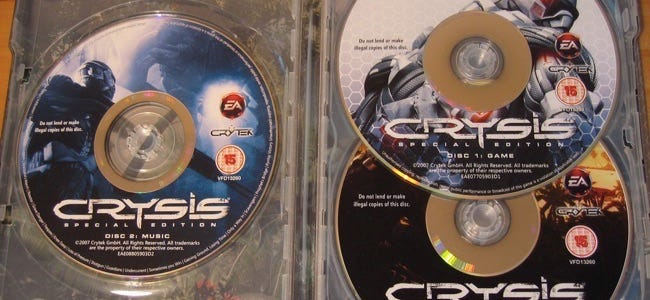 crysis discs contained securom