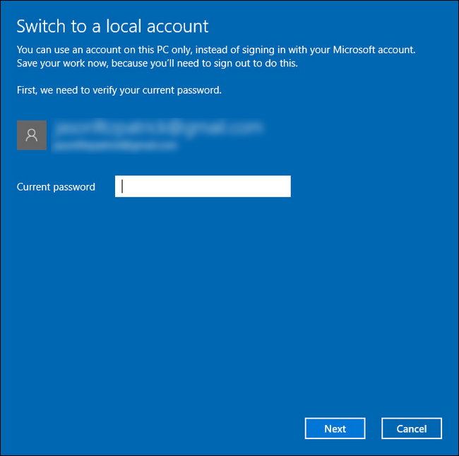 How to Revert Your Windows 10 Account to a Local One (After the