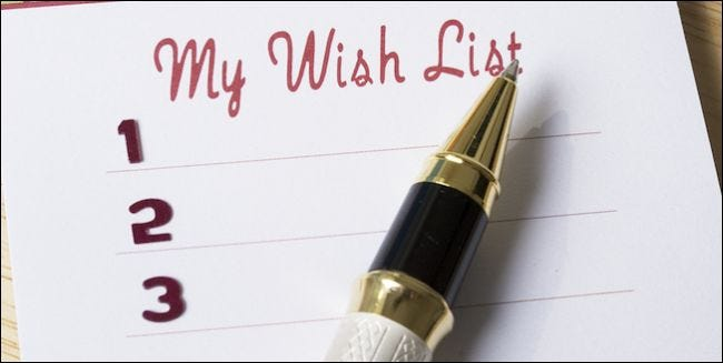 Image result for wish lists