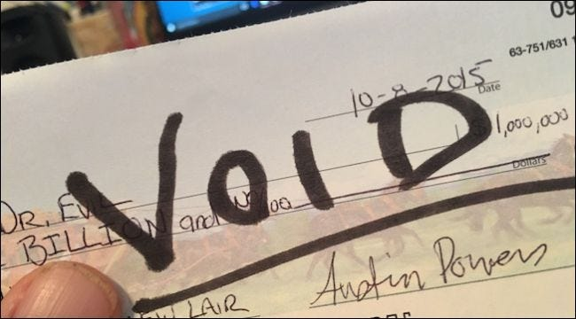 how to make a voided check
