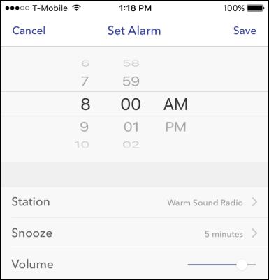 set alarm for 18 minutes