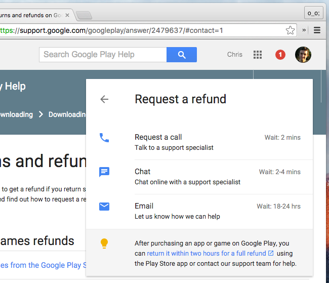 How to Get a Refund For an Android App You Purchased From