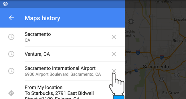 how to delete maps history my blog