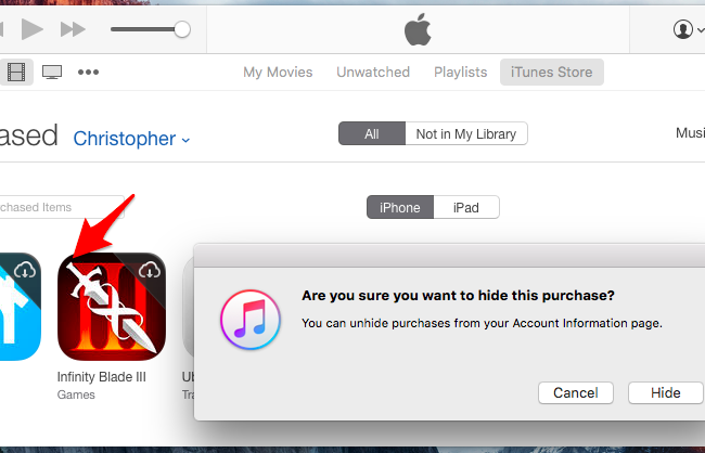 How to Hide Apps You've Purchased on Apple's App Store and