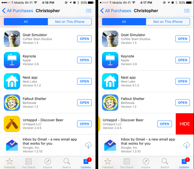 How to Hide Apps You've Purchased on Apple's App Store and Google
