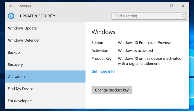 activate product key windows 10 pro
