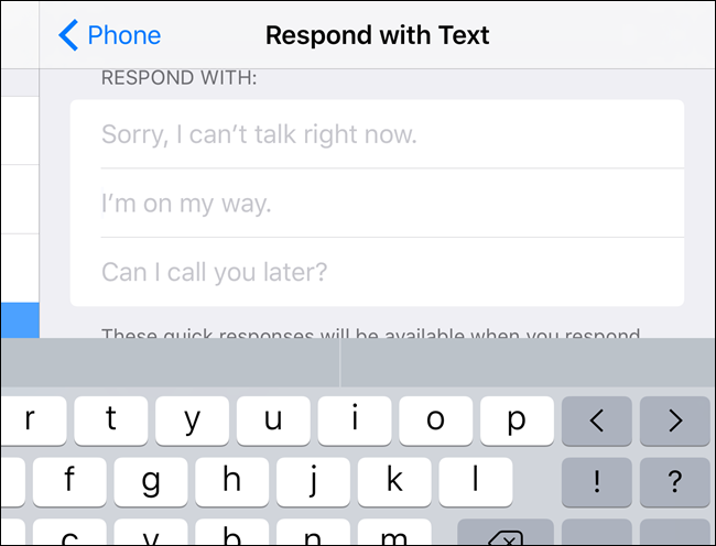 "How to Customize the ""Respond with Text"" Messages to Calls on iPhone"