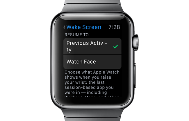 how to resume your last activity on wrist raise on apple watch