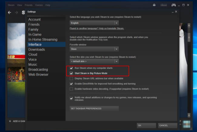 Steam disable big picture mode Download With Key