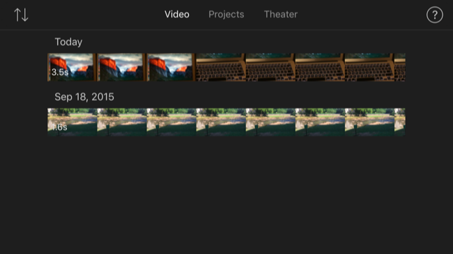 how to create a video on imovie
