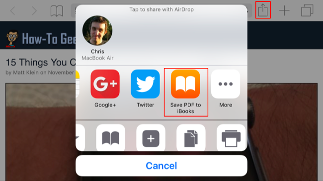 How to save pdf on iphone ibooks