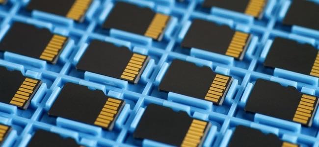 Microsd Memory Cards On A Tray