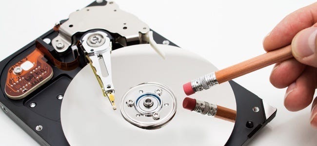 Hard Disk Drive Data Erase Metaphor