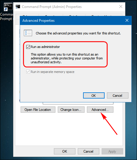 windows 10 how to always run as administrator
