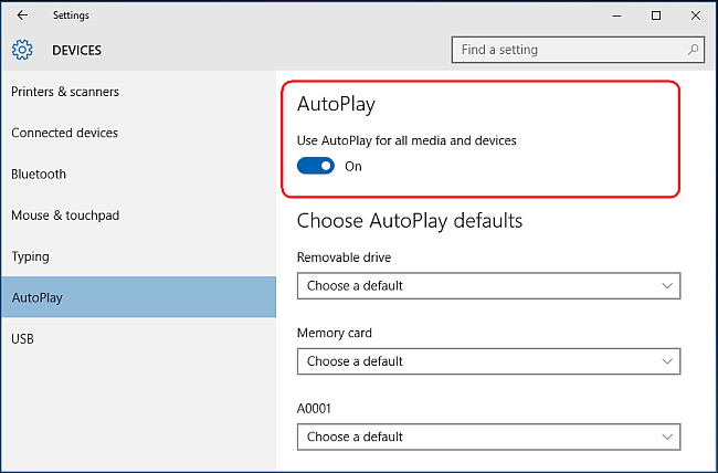 With this switched off you will never see the autoplay window pop up