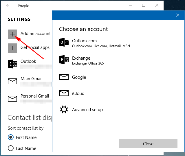 How to Add Contacts from Gmail, Outlook, and More to Windows