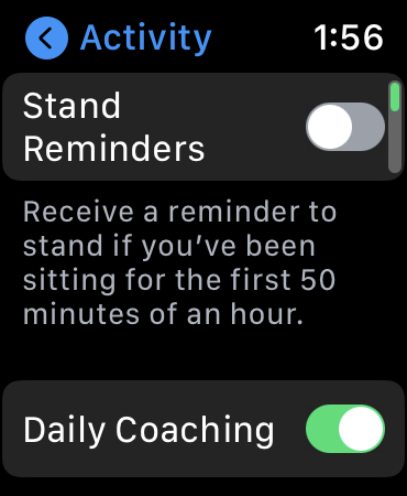 """Disable """"Stand Reminders"""""""