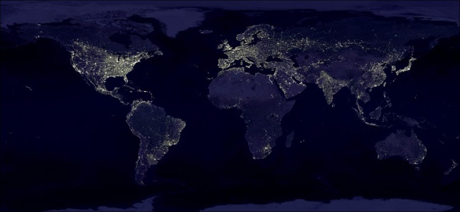 earth at night lights from nasa
